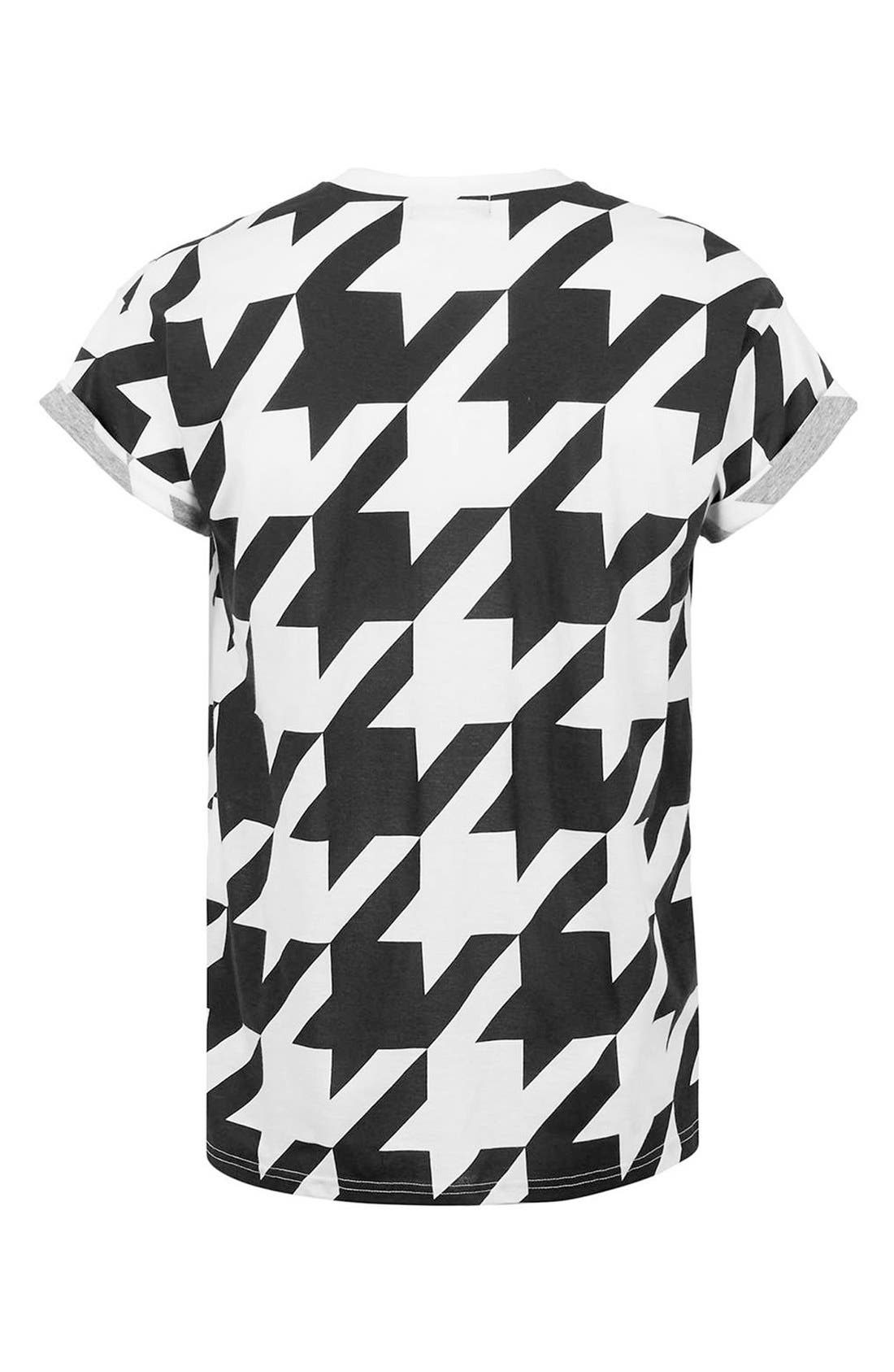 Alternate Image 2  - Topman Houndstooth Print T-Shirt