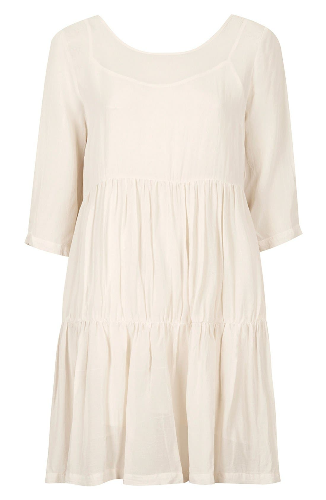 Alternate Image 3  - Topshop Chiffon Tiered Smock Dress