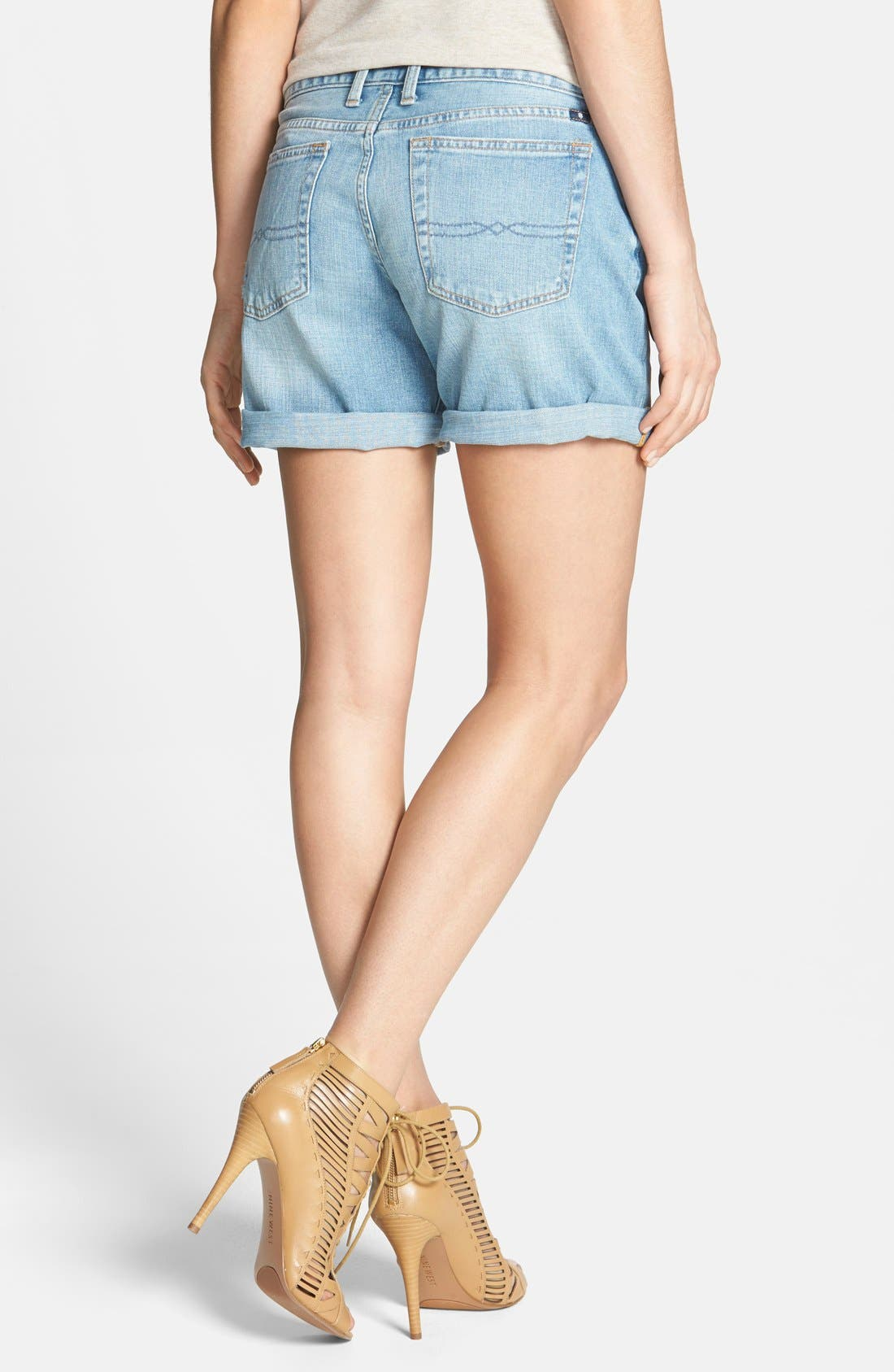 Alternate Image 2  - Lucky Brand 'Laguna' Distressed Denim Shorts (Hudlow)