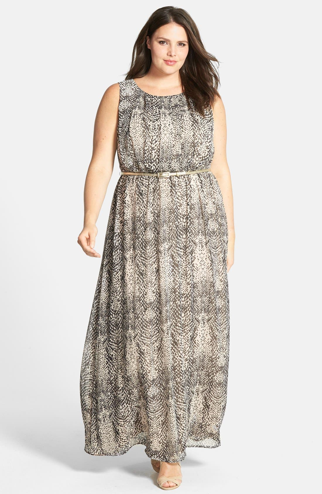 Alternate Image 1 Selected - Eliza J Floral Maxi Dress (Plus Size)