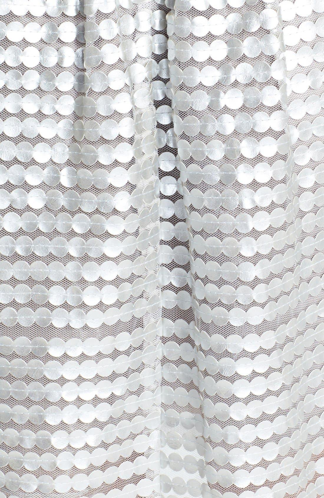Alternate Image 3  - a. drea Metallic Textured Strapless Fit & Flare Dress (Juniors)