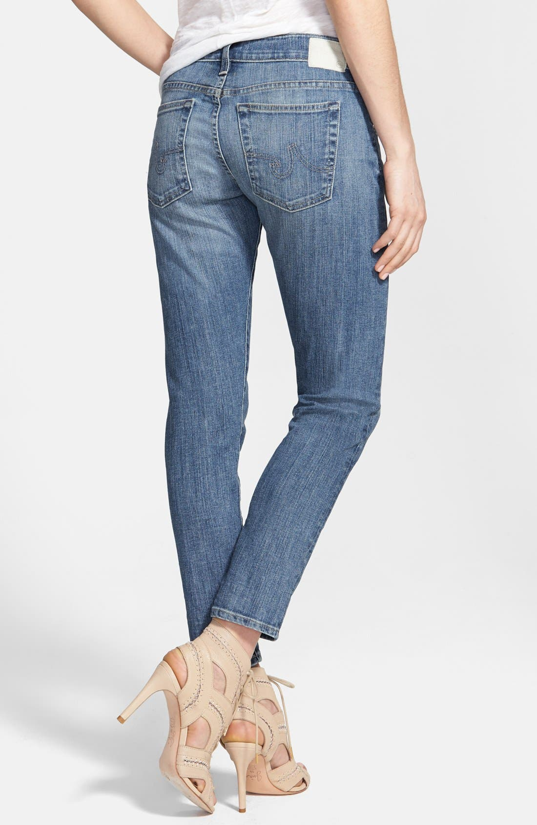 Alternate Image 2  - AG 'Nikki' Relaxed Skinny Crop Jeans (18 Year Enchant)