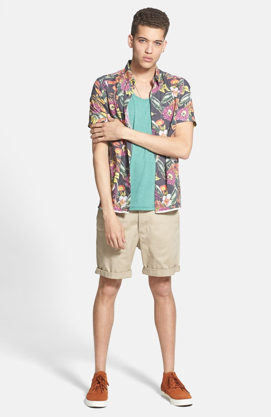 Alternate Image 5  - Topman Skinny Fit Chino Shorts