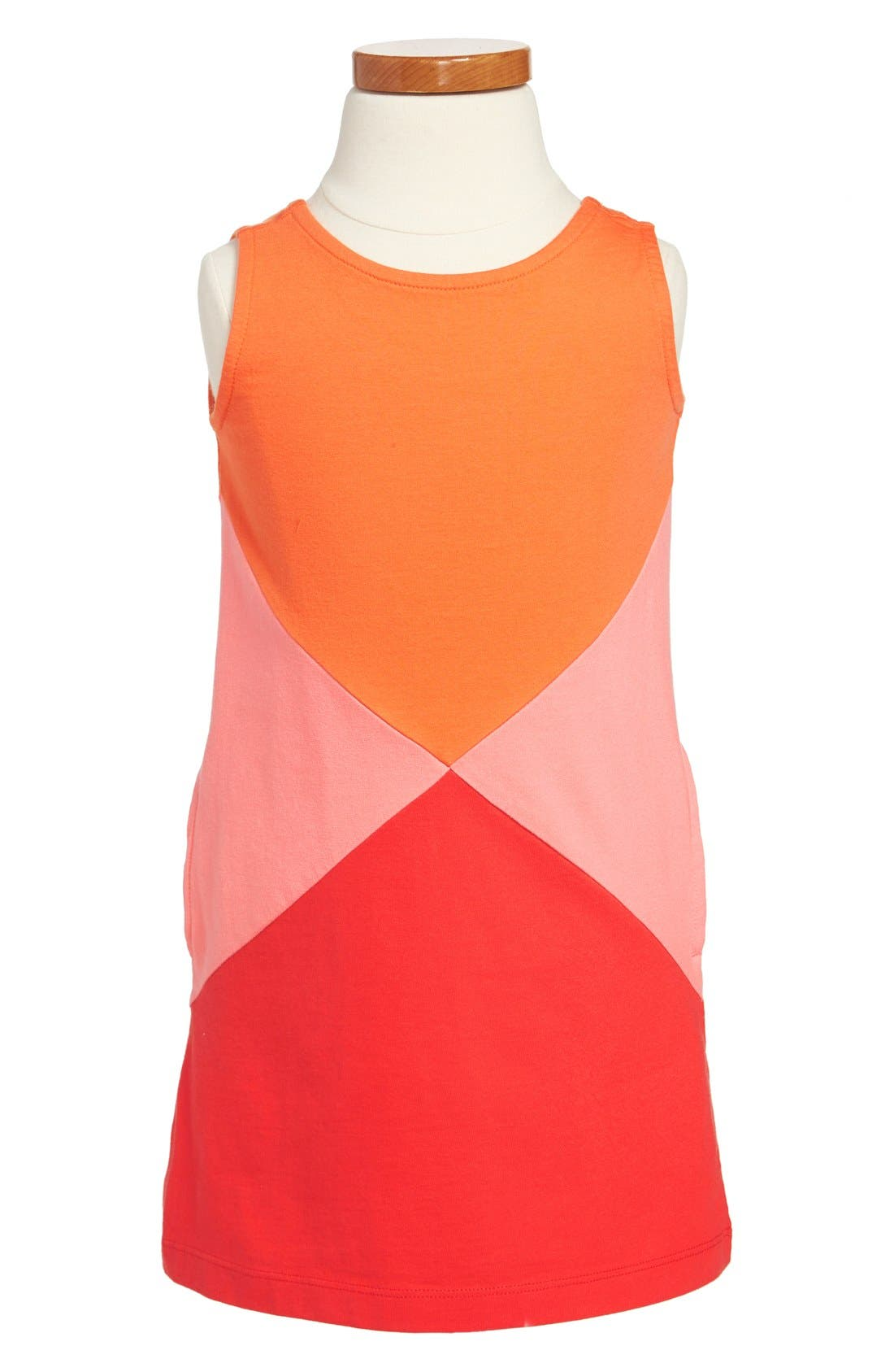 Alternate Image 1 Selected - Tea Collection 'Colorblock Sail' Sleeveless Dress (Little Girls & Big Girls)