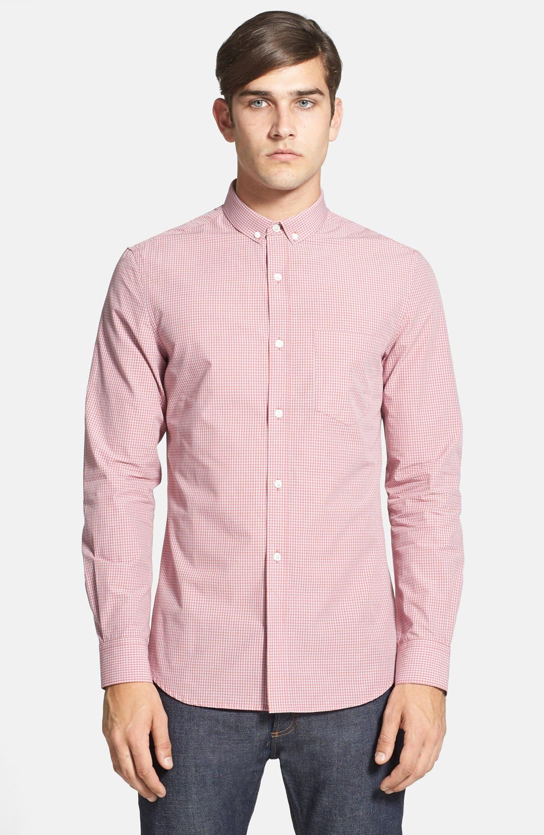 Alternate Image 1 Selected - French Connection Slim Fit Gingham Sport Shirt