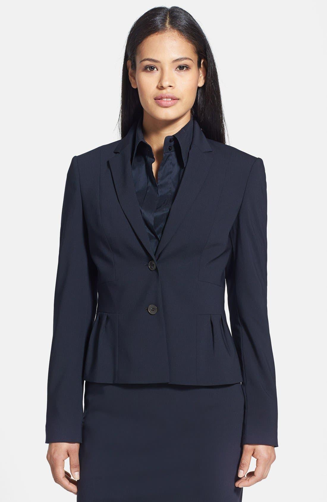 Main Image - BOSS 'Jorila' Stretch Wool Jacket