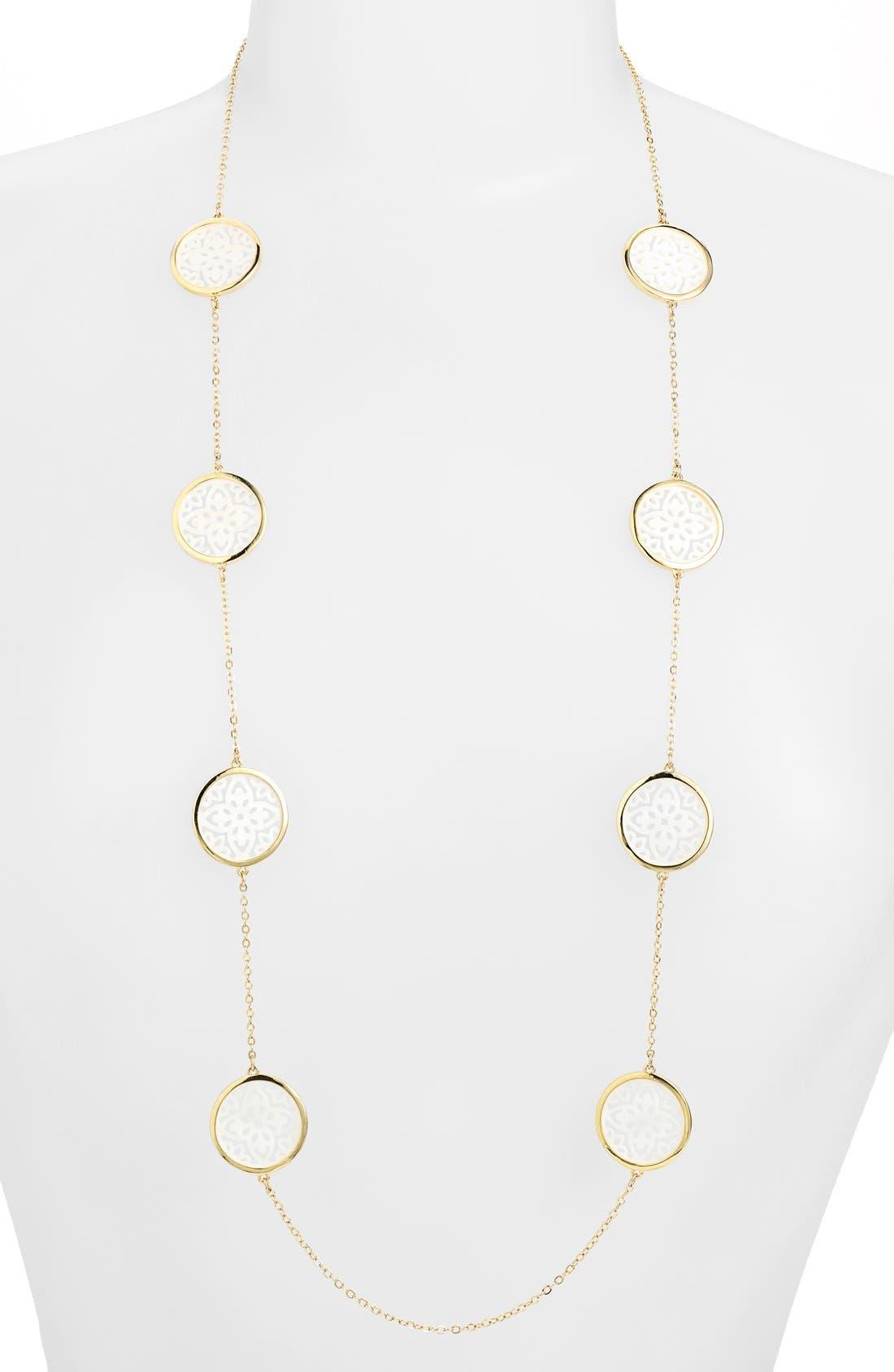 Alternate Image 1 Selected - Lauren Ralph Lauren Long Illusion Necklace