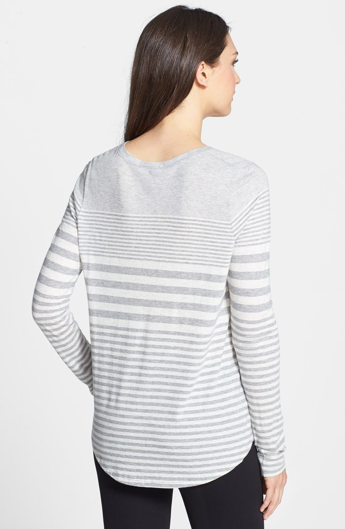 Alternate Image 2  - Vince Variegated Stripe Top