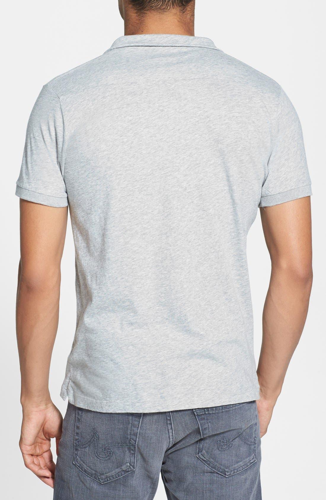 Alternate Image 2  - French Connection 'Lunar' Slim Fit V-Neck Jersey Polo Shirt