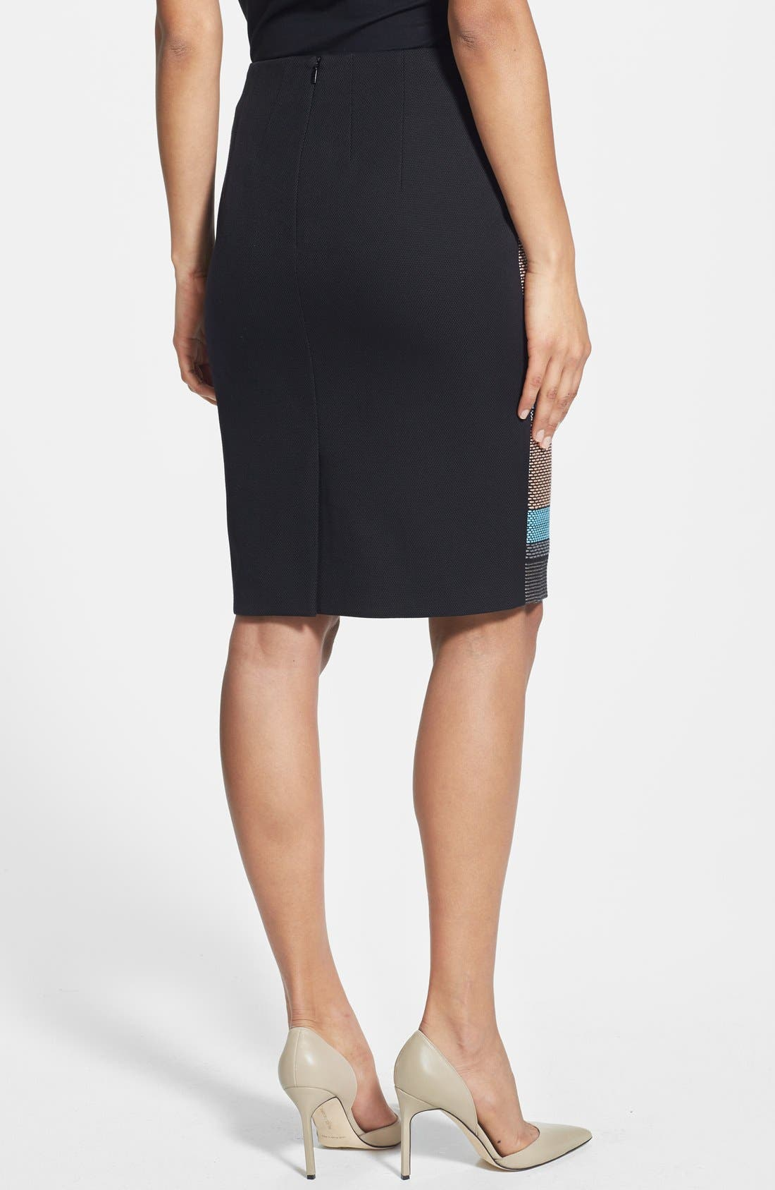Alternate Image 2  - BOSS 'Vilina1' Stripe Front Skirt