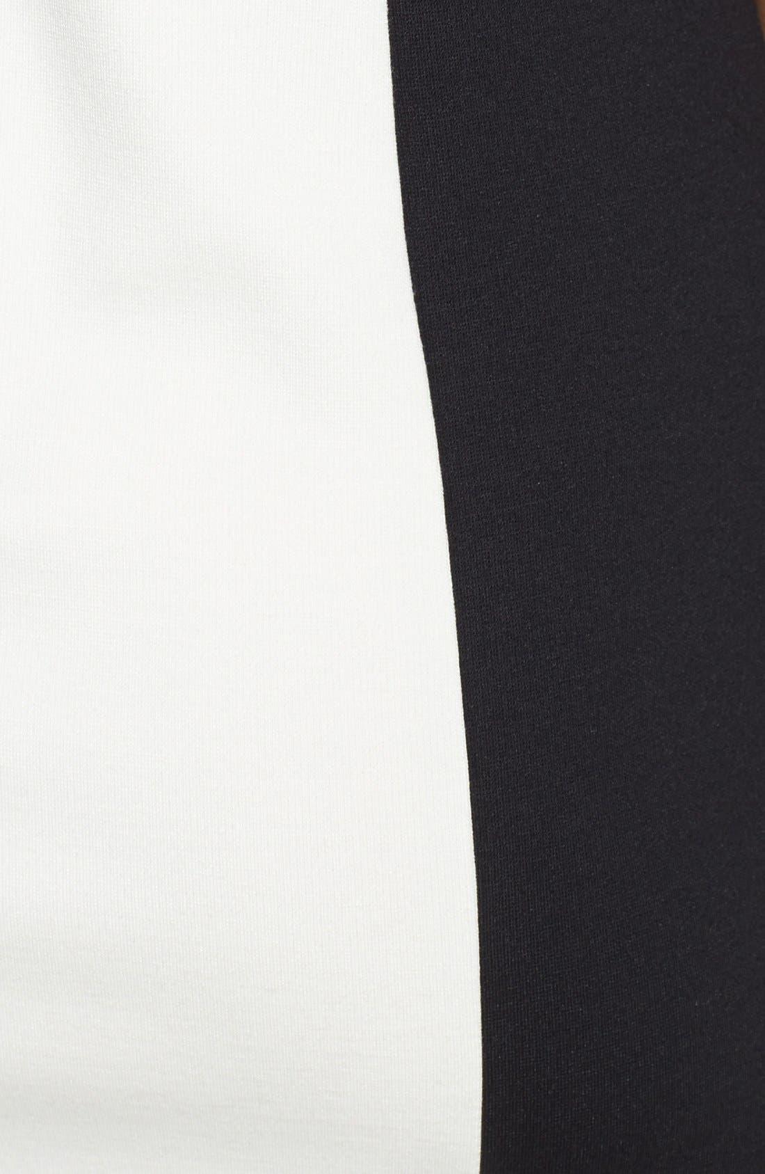 Alternate Image 3  - kensie Textured Front Ponte Knit Minidress (Online Only)