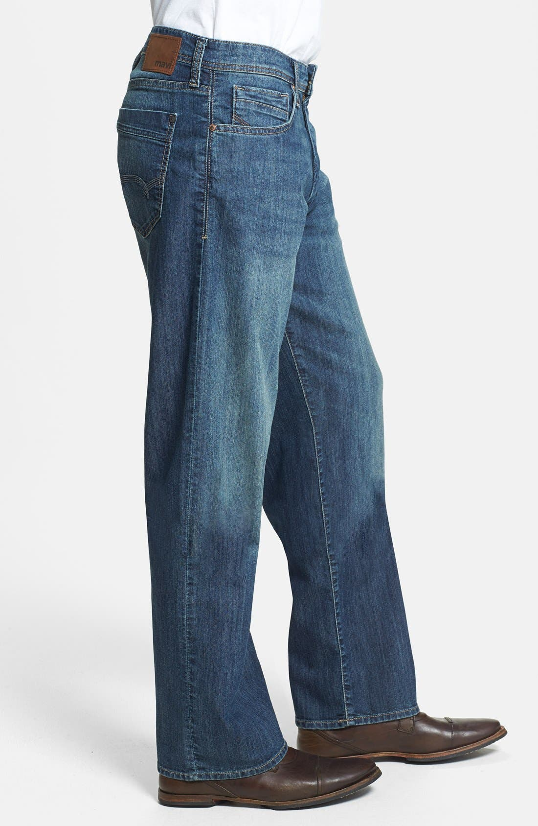 Alternate Image 3  - Mavi Jeans 'Max' Relaxed Fit Jeans (Mid Railtown) (Online Only)