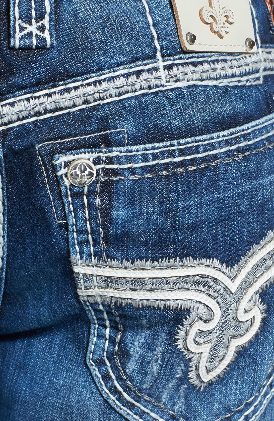 Alternate Image 4  - Rock Revival 'Rogan' Bootcut Jeans (Medium Blue)