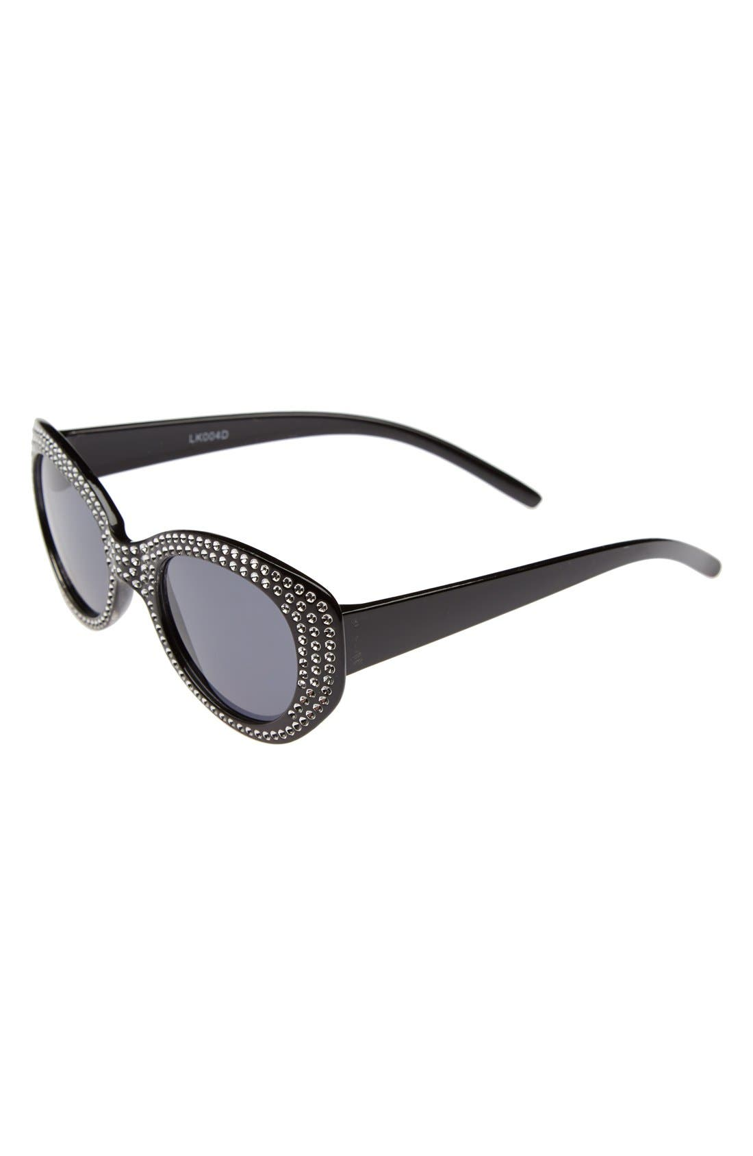 Main Image - Loose Leaf Eyewear Crystal Trim Sunglasses (Toddler Girls)