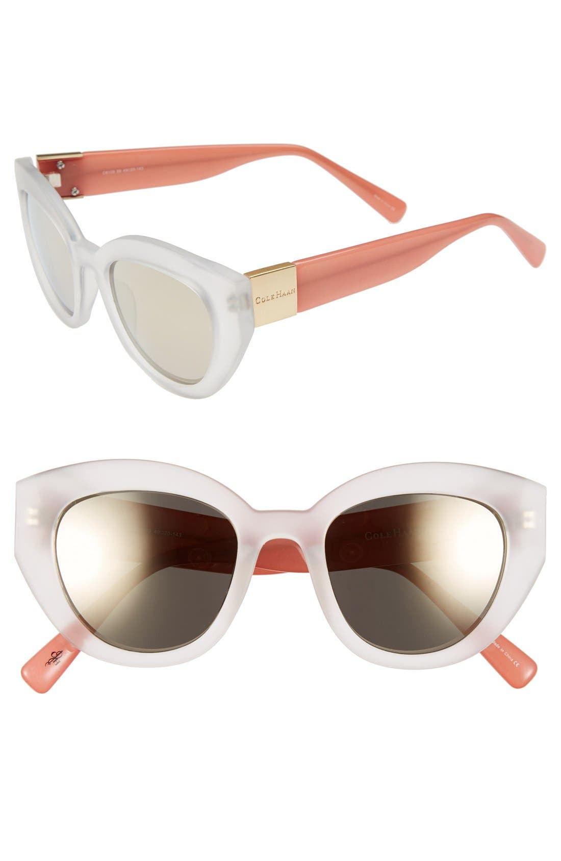 Alternate Image 1 Selected - Cole Haan 49mm Geometric Sunglasses
