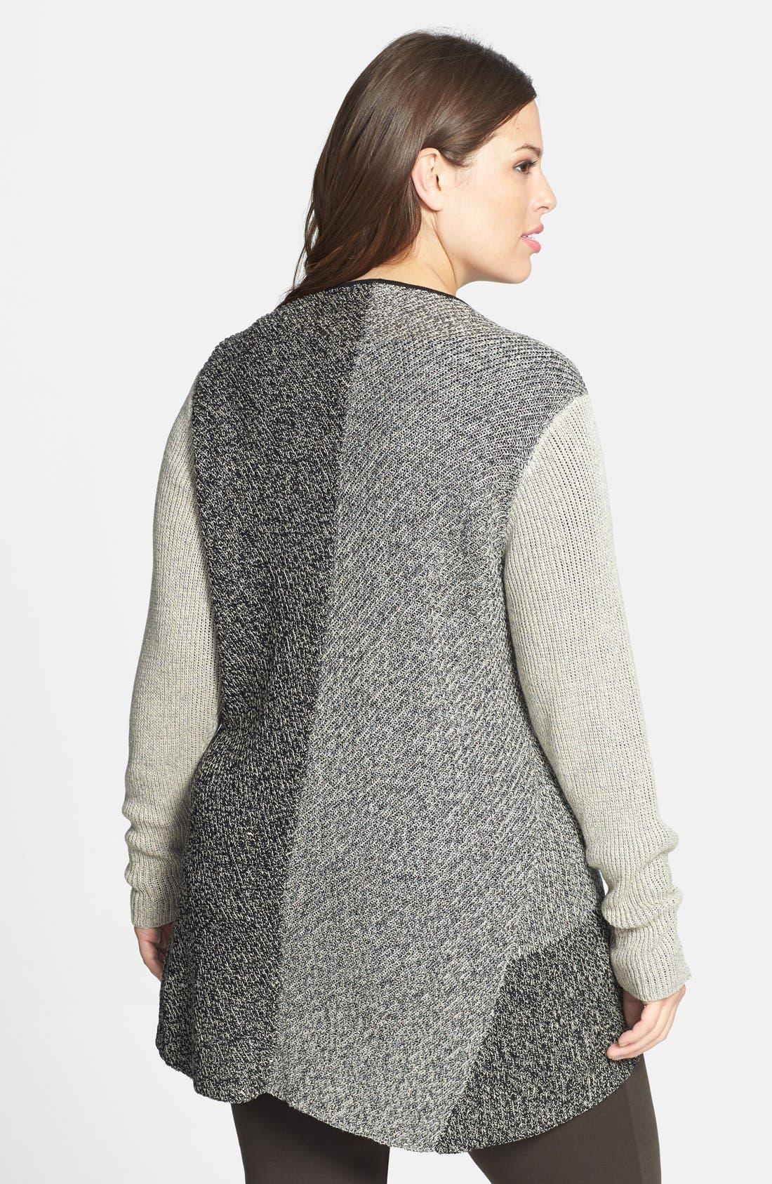 Alternate Image 2  - Eileen Fisher Wool & Linen Cardigan (Plus Size)