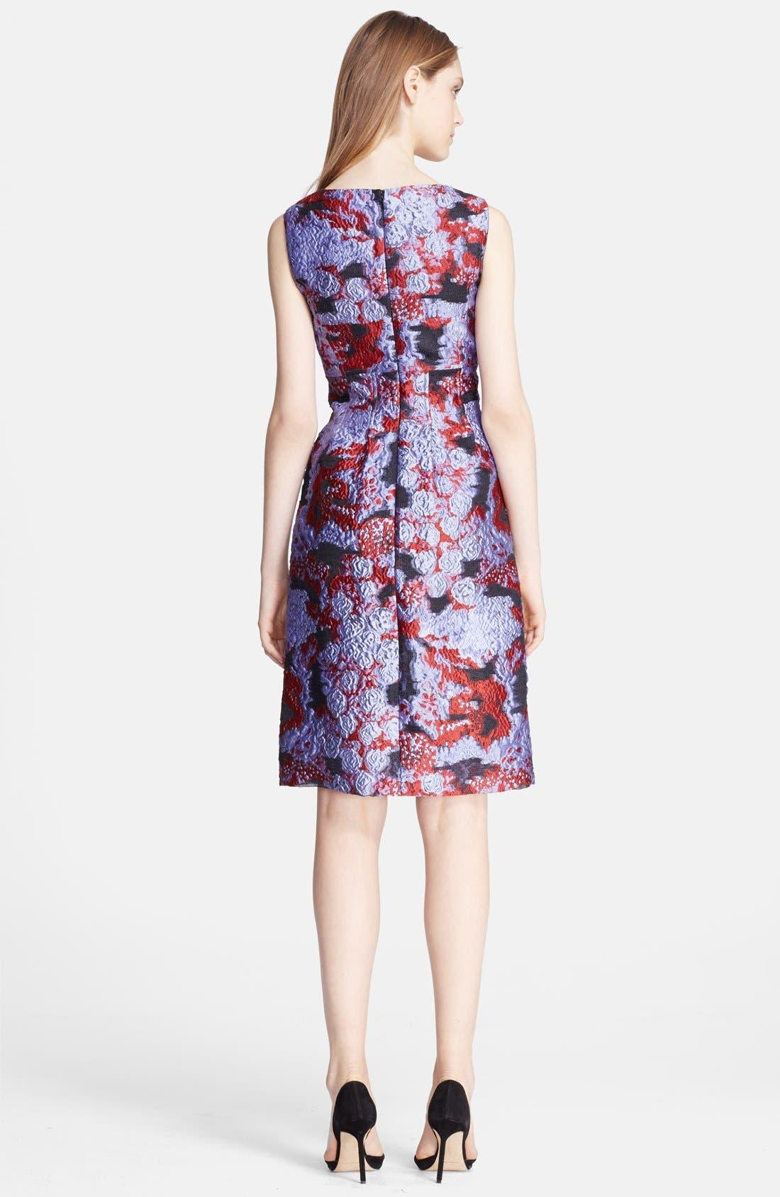 Alternate Image 2  - Lela Rose Print Fil Coupe Sheath Dress
