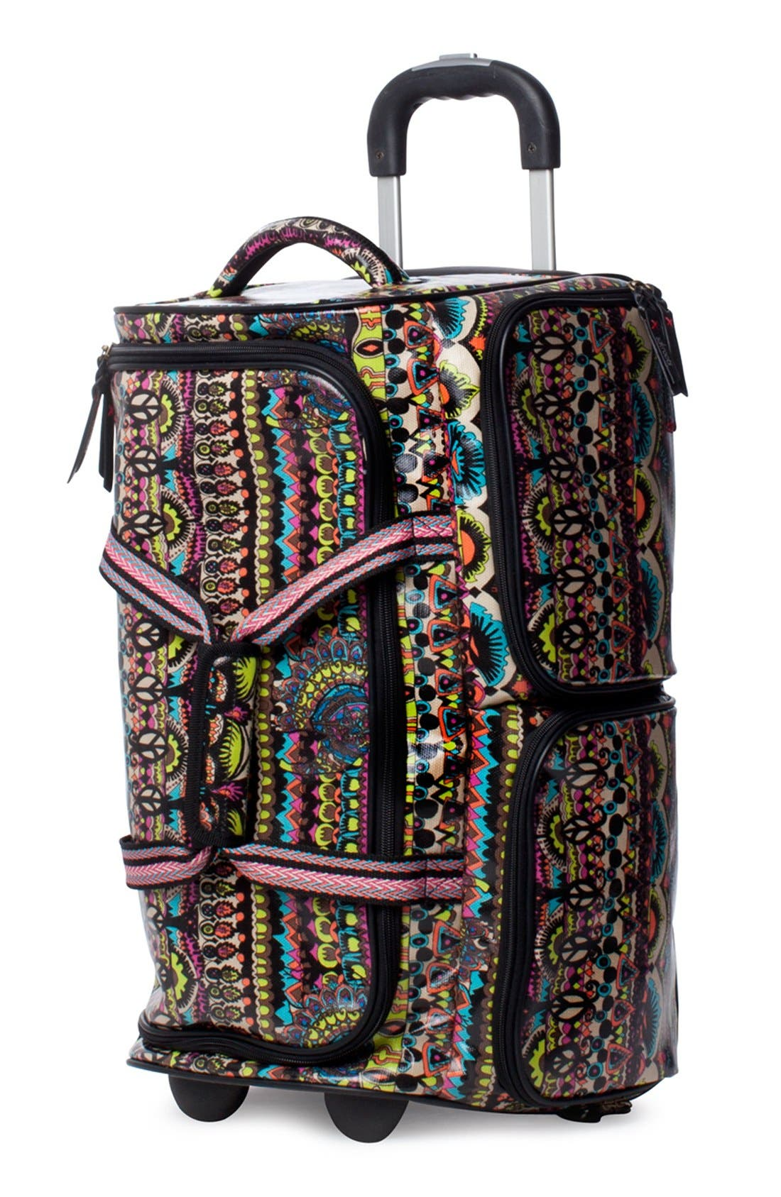 Main Image - Sakroots 'Artist Circle' Rolling Carry-On Duffel Bag (23 Inch)