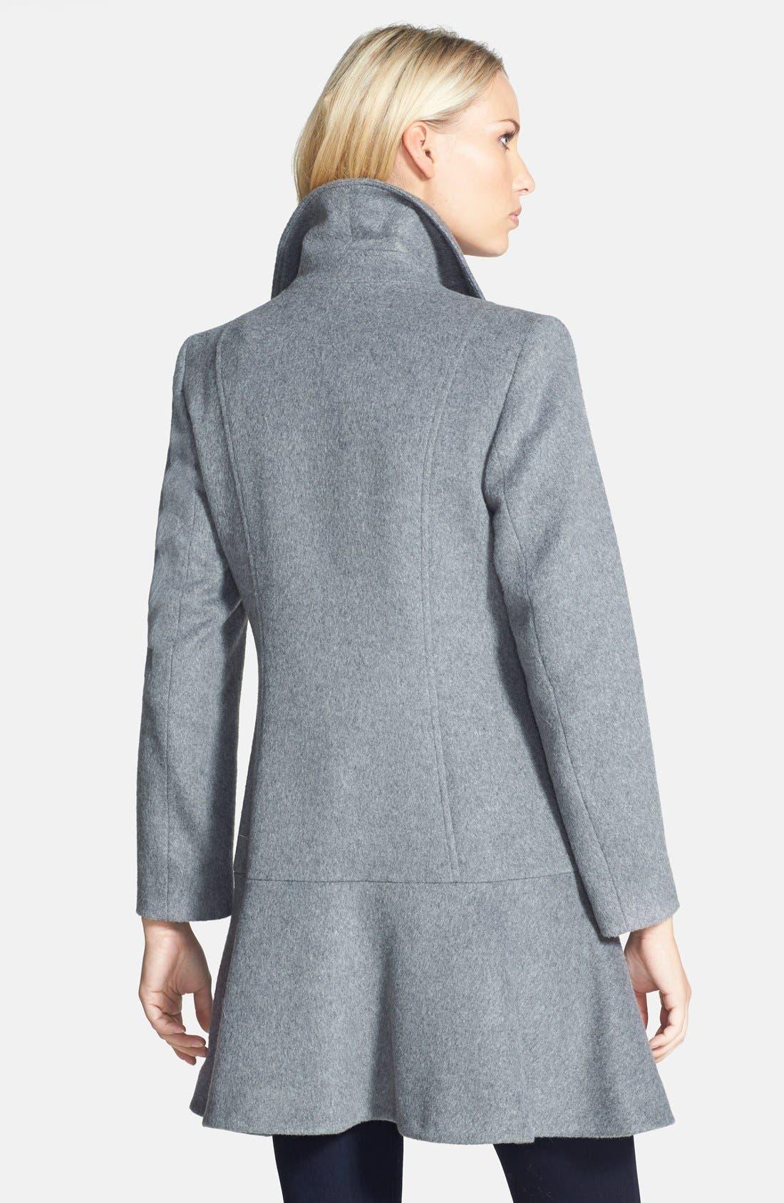 Alternate Image 2  - Helene Berman Double Breasted Flare Skirt Coat