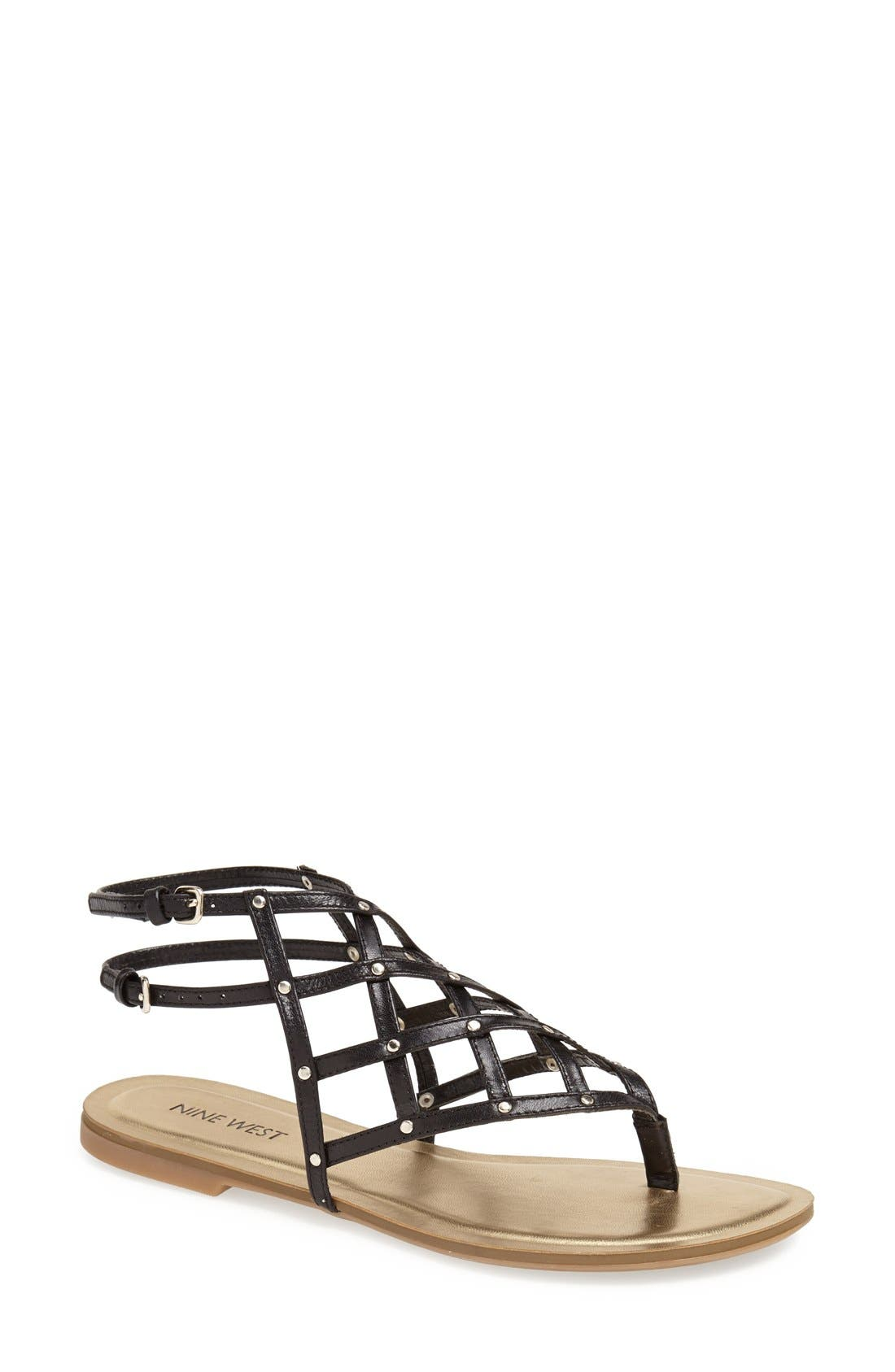Alternate Image 1 Selected - Nine West 'Plaidperfect' Sandal