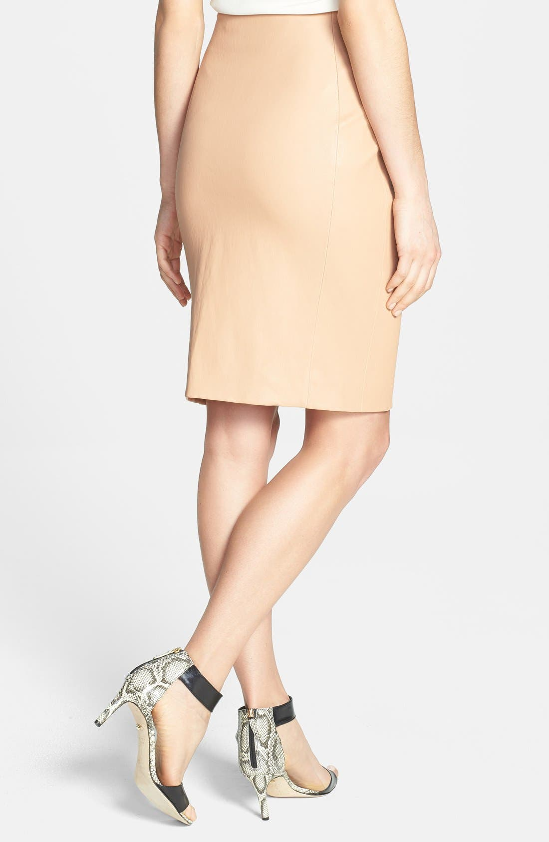Alternate Image 2  - Diane von Furstenberg 'Marta' Paneled Leather Skirt
