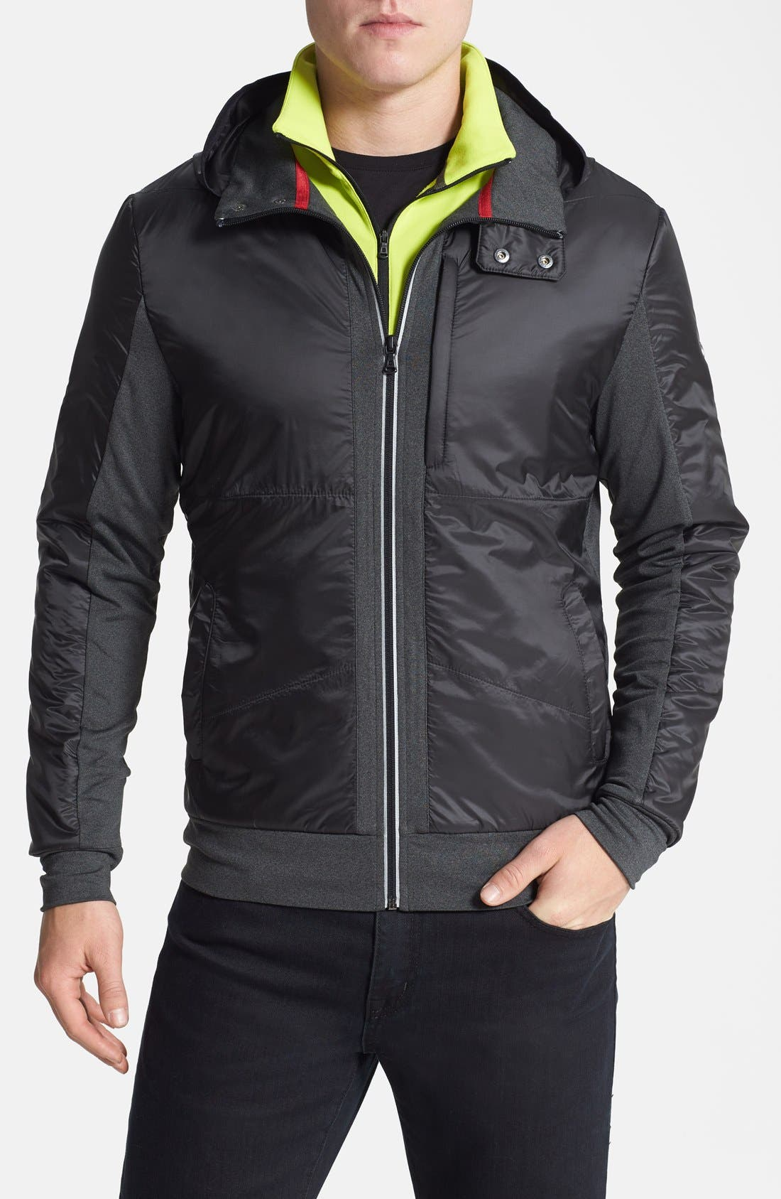 Alternate Image 1 Selected - Victorinox Swiss Army® Moisture Wicking Technical Fleece Hooded Jacket (Online Only)