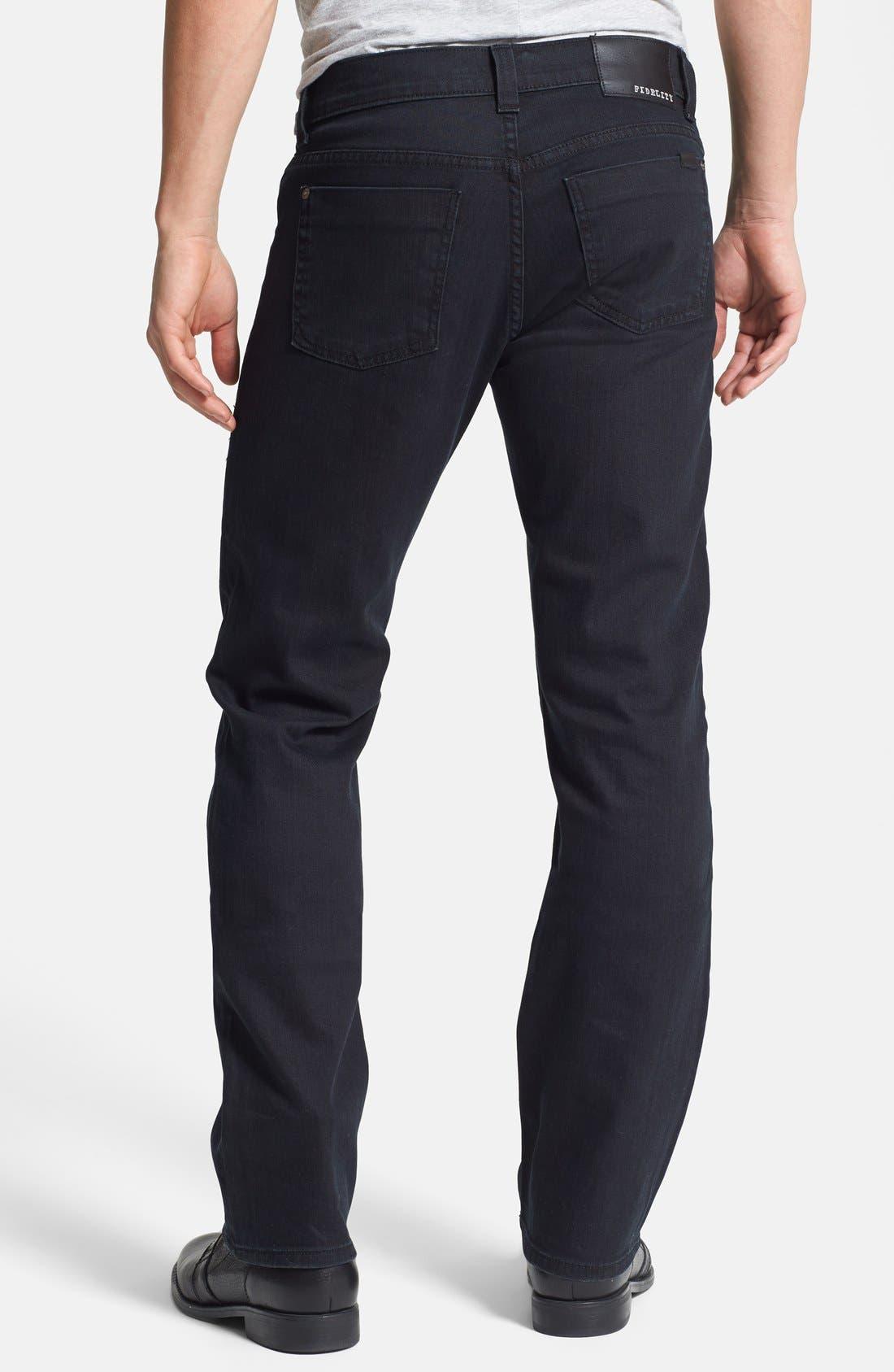 Alternate Image 2  - Fidelity Denim '50-11' Straight Leg Jeans (Town Black Vintage)