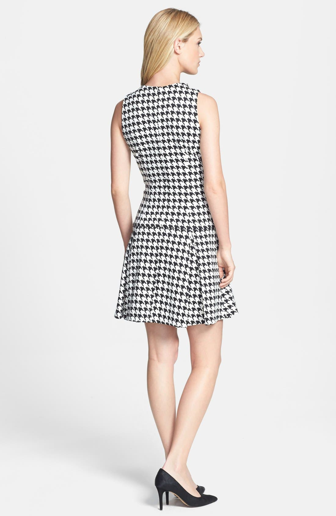 Alternate Image 2  - MICHAEL Michael Kors Zip Shoulder Print Drop Waist Dress (Online Only)