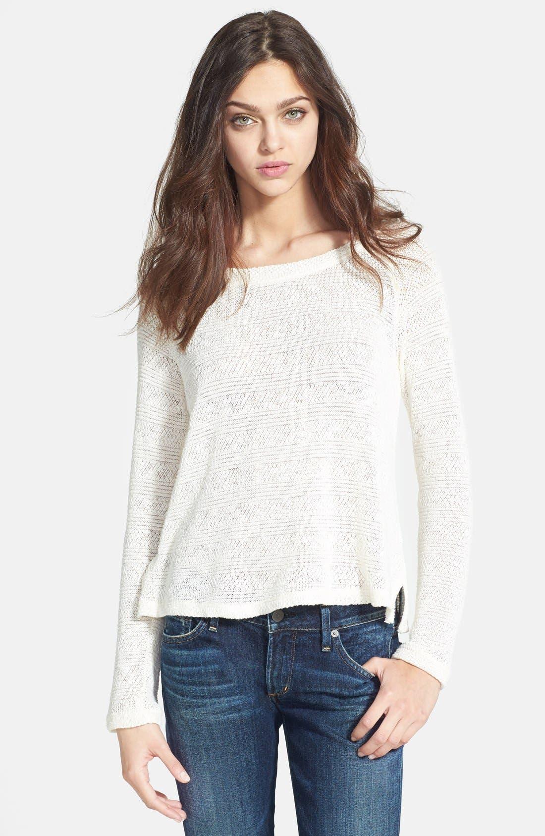 Alternate Image 1 Selected - Splendid 'Sierra' Stripe Knit Pullover