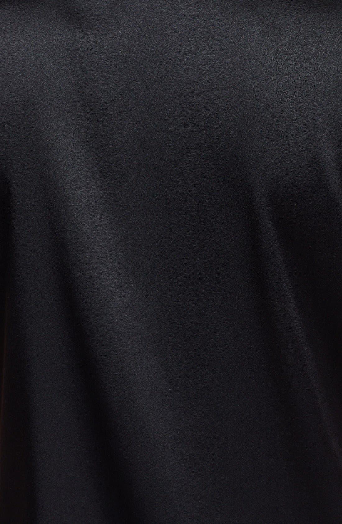 Alternate Image 3  - St. John Collection Silk Charmeuse Cap Sleeve Blouse