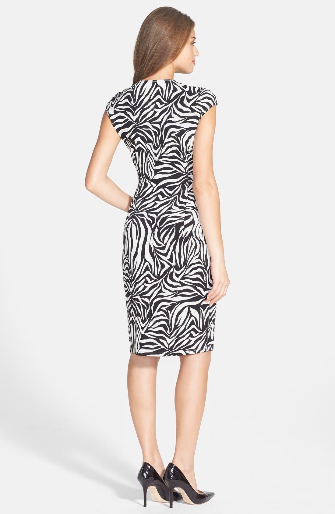 Alternate Image 2  - Maggy London Print Jersey Sheath Dress