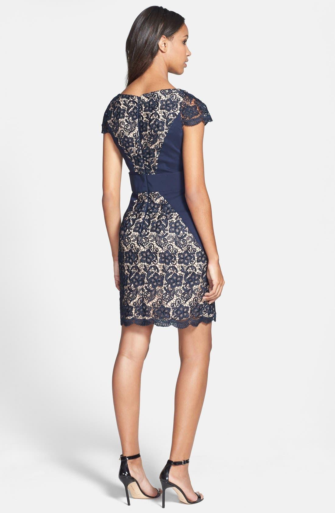 Alternate Image 2  - Jessica Simpson Contrast Panel Lace Sheath Dress