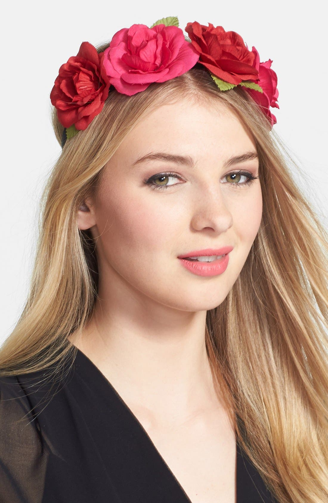 Alternate Image 1 Selected - Berry 'Floral Crown' Head Wrap