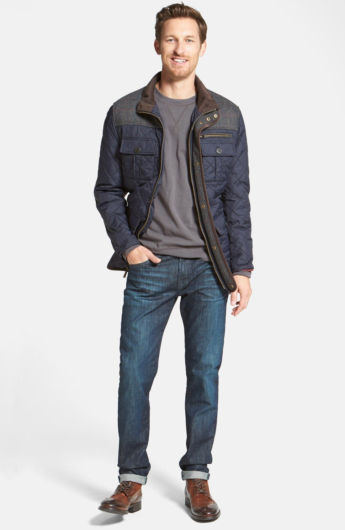 Alternate Image 7  - Vince Camuto Diamond Quilted Full Zip Jacket (Online Only)