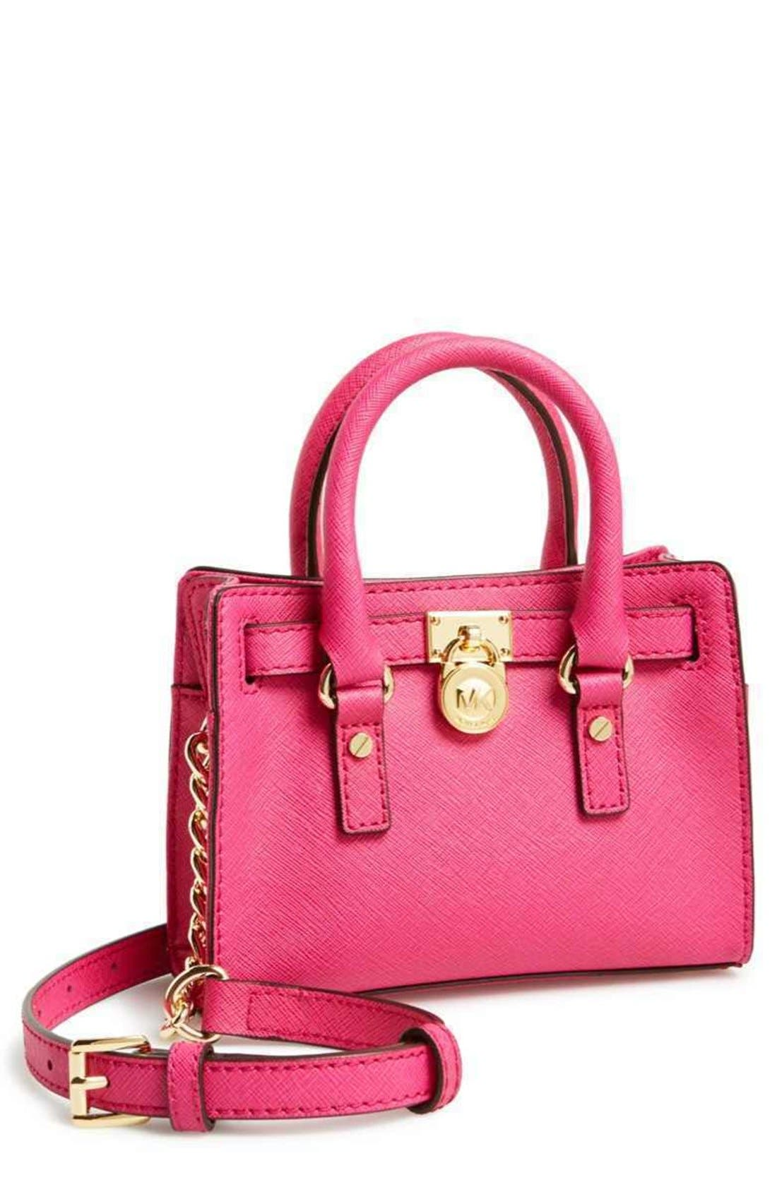 Alternate Image 1 Selected - MICHAEL Michael Kors 'Hamilton - Mini' Leather Messenger Bag