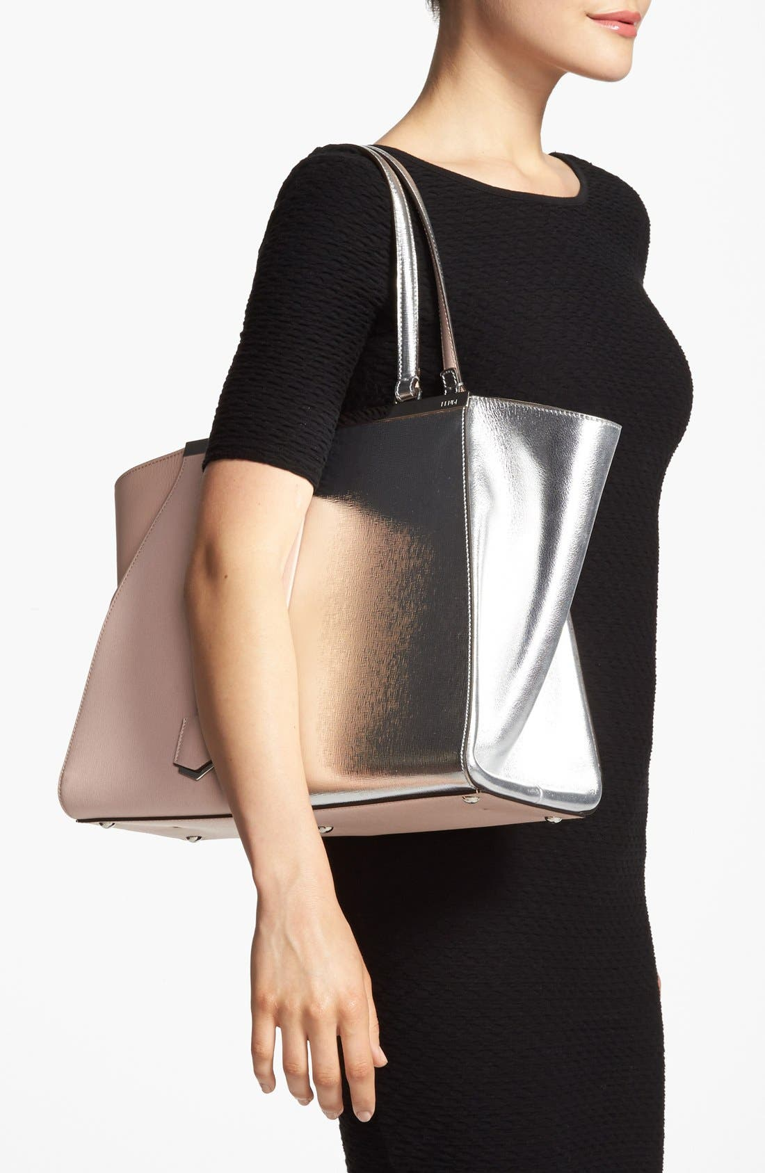 Alternate Image 2  - Fendi '3Jours' Bicolor Leather Shopper