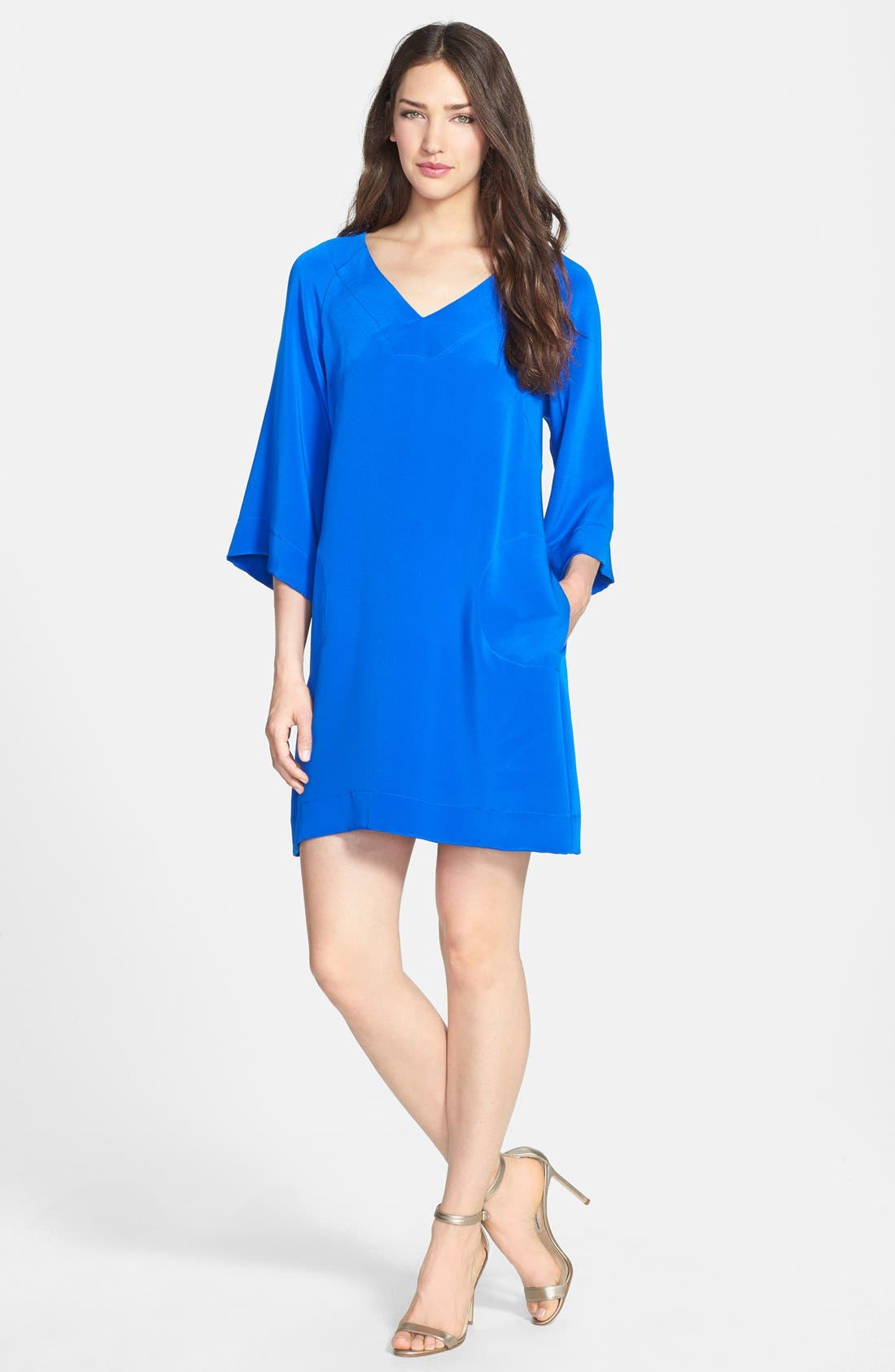 Alternate Image 1 Selected - Donna Ricco Top Stitch Caftan Dress