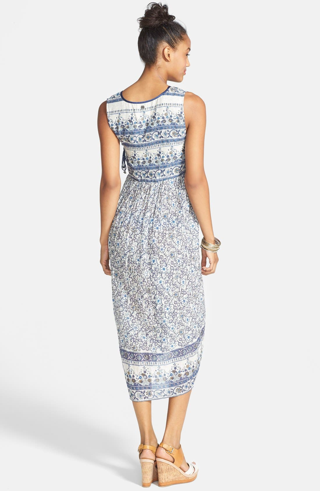 Alternate Image 2  - Billabong 'I Heart This' Floral Print Midi Dress (Juniors)