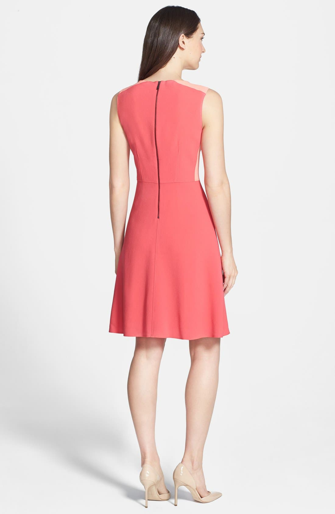 Alternate Image 2  - Elie Tahari 'Rosario' Colorblock Crepe Fit & Flare Dress