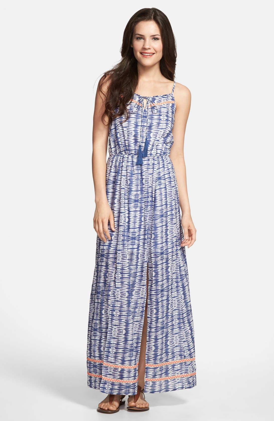 Main Image - Olive & Oak Tie Dye Cotton Maxi Dress