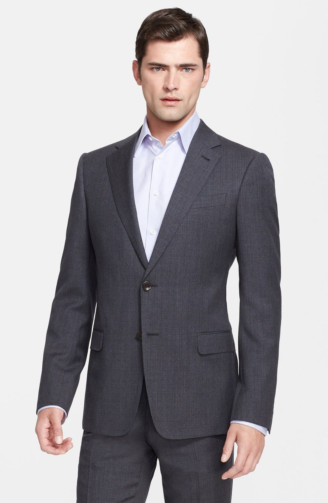 Alternate Image 3  - Armani Collezioni 'Sartorial' Grey Wool Suit