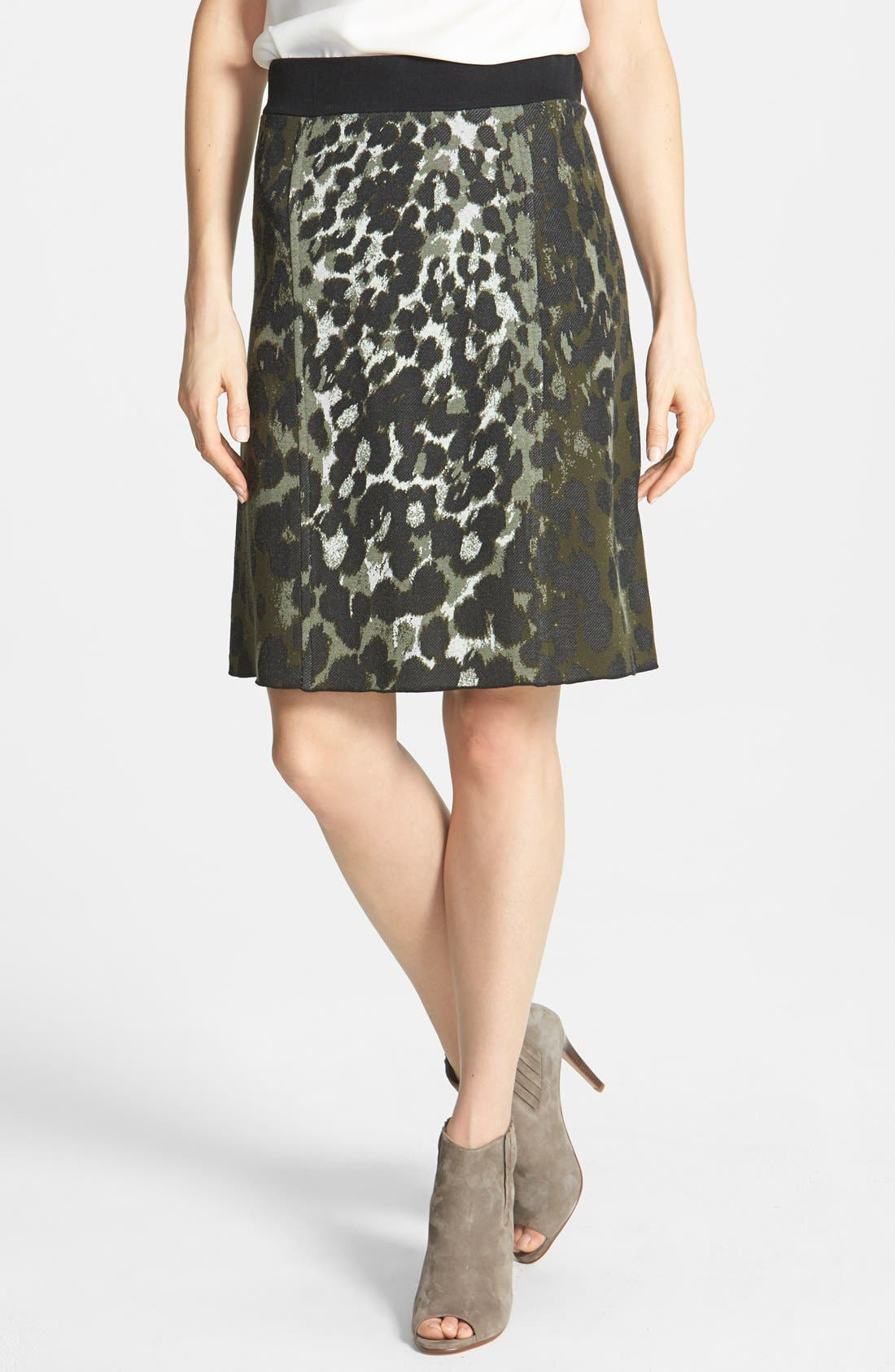 Alternate Image 1 Selected - NIC+ZOE Print Knit Skirt