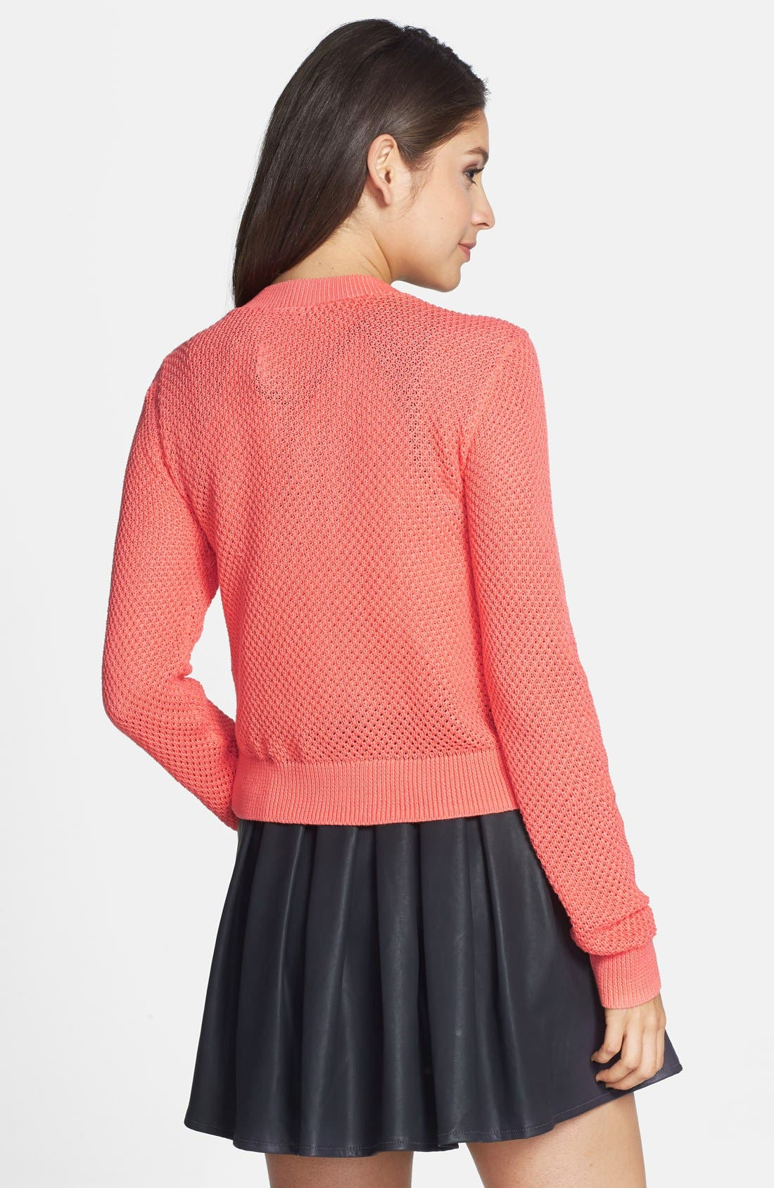 Alternate Image 2  - BP. Cropped Textured Cotton Cardigan (Juniors)