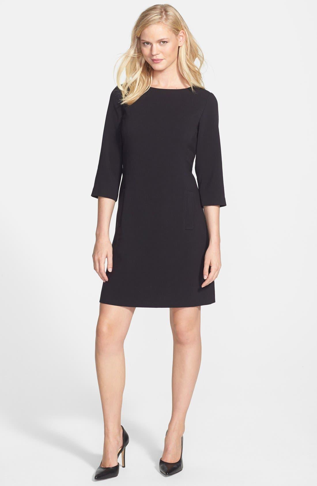Alternate Image 3  - Eliza J Knit Shift Dress (Regular & Petite)