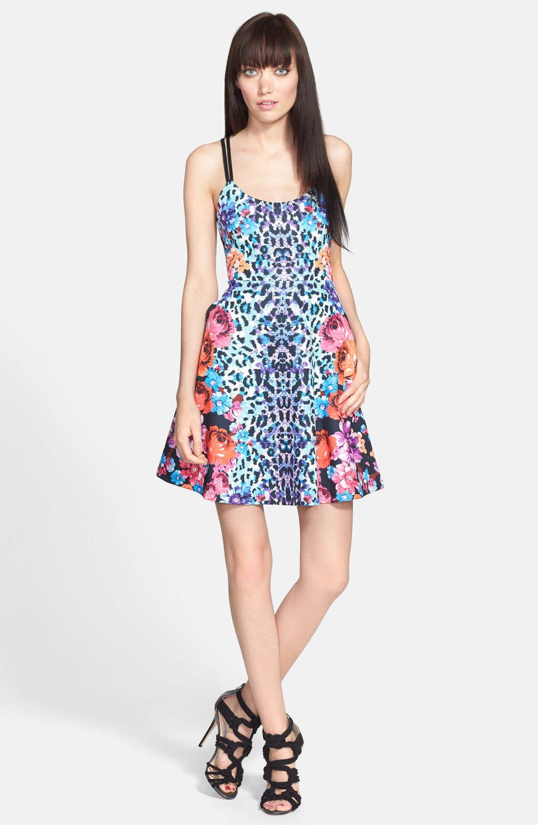 Main Image - MINKPINK 'Season of Illusions' Print Fit & Flare Dress