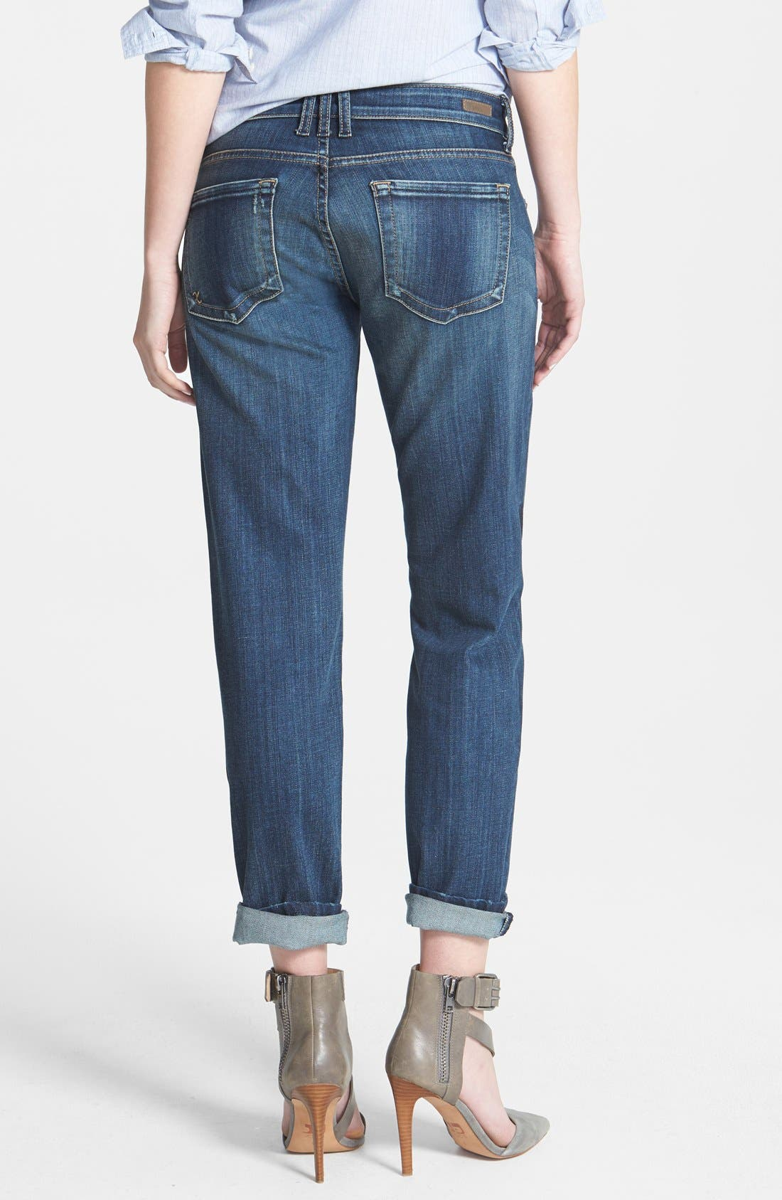 Alternate Image 2  - KUT from the Kloth 'Catherine' Destructed Slim Boyfriend Jeans (Dimple)