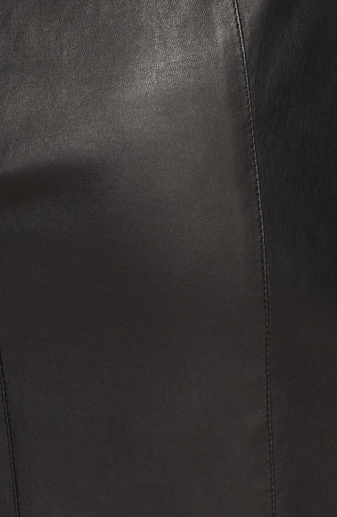 Alternate Image 3  - Burberry London Leather Pencil Skirt