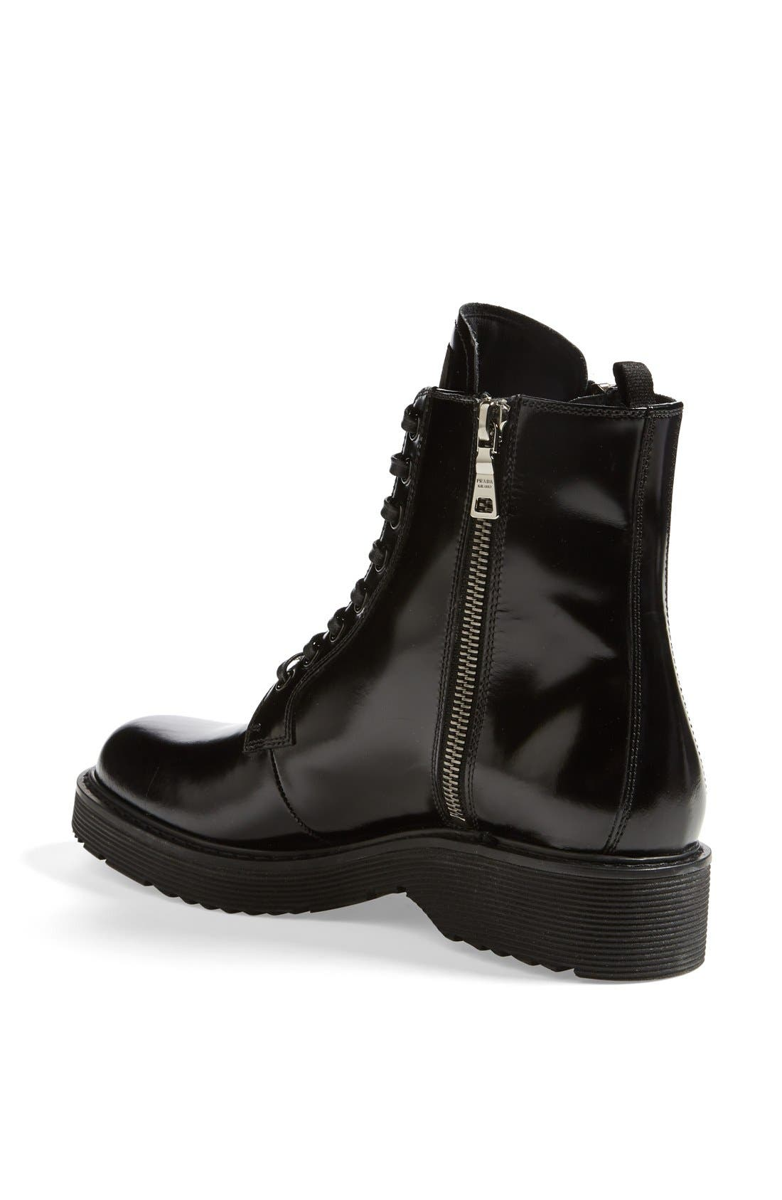 Alternate Image 2  - Prada Lace-Up Short Boot (Women)