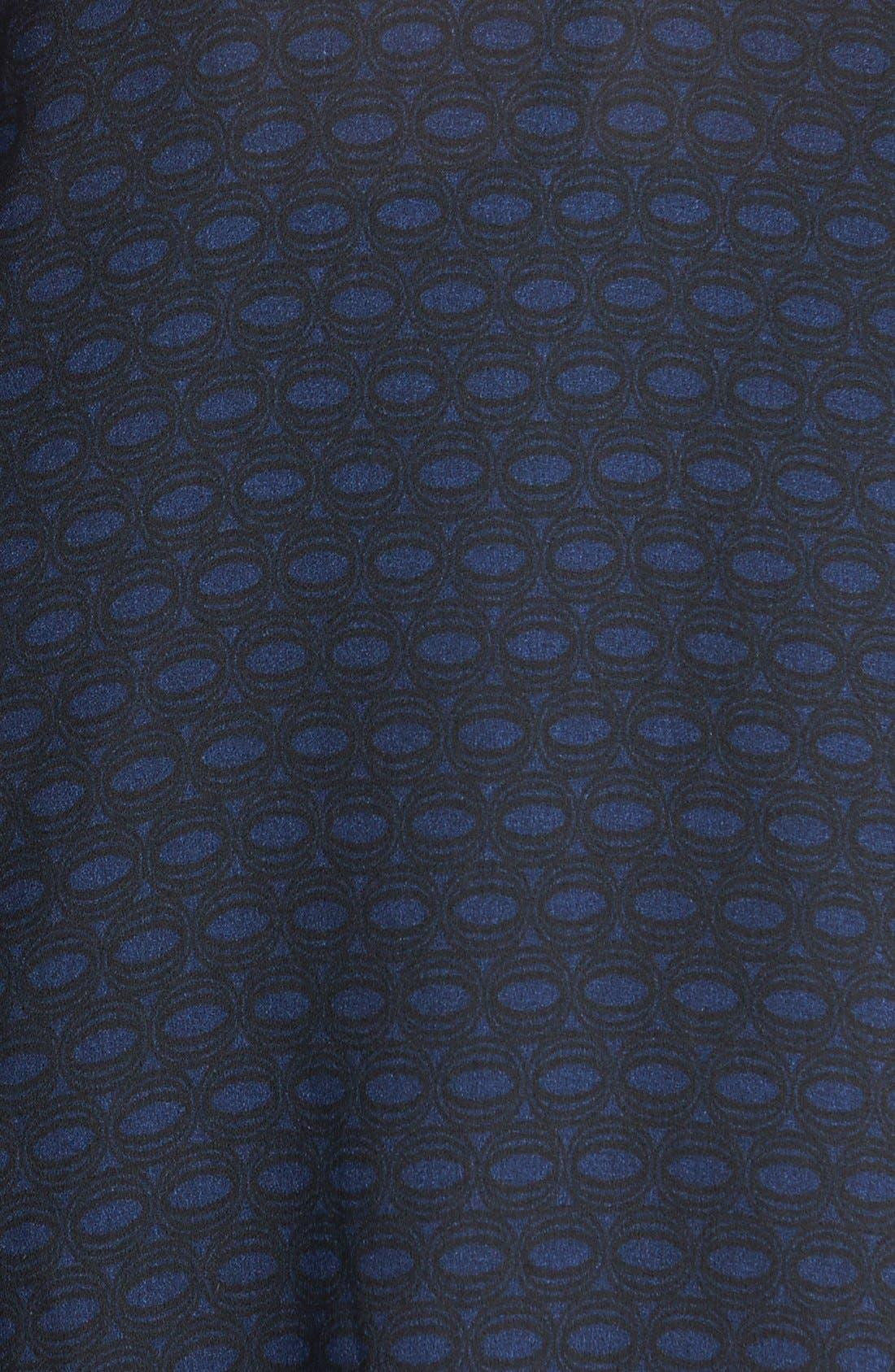 Alternate Image 3  - Halogen® Open Back Woven Print Tee (Regular & Petite)