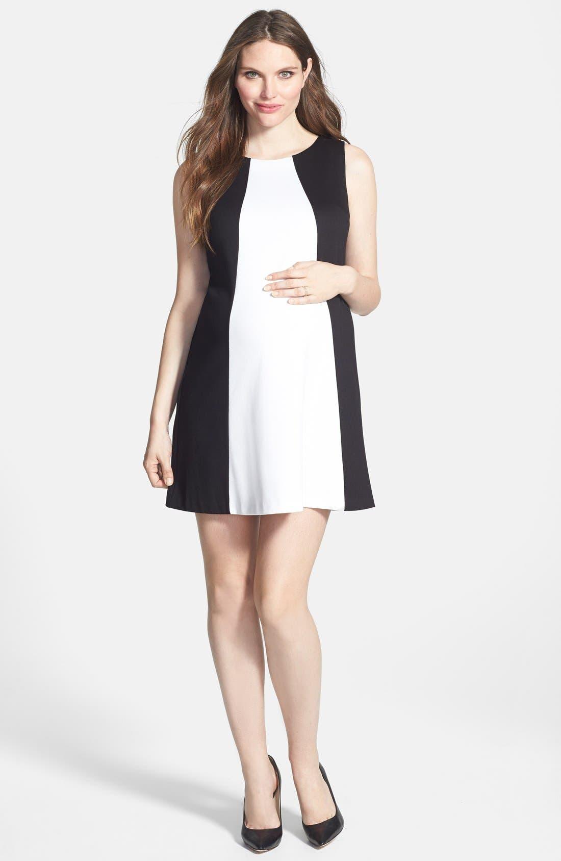 MATERNAL AMERICA 'Pyramid' Maternity Dress
